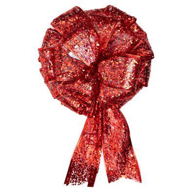 Lazo rojo estilo moño 23 cm