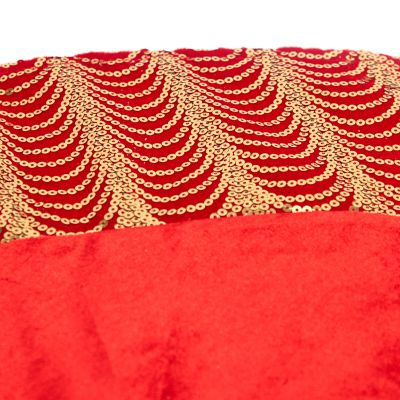 Falda roja de arbolito 106 cm