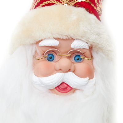 Adornos cara de Santa Claus rojo 15cm