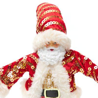 Adorno de Santa Claus rojo con aplicaciones 17cm