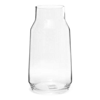 Florero de vidrio boca ancha