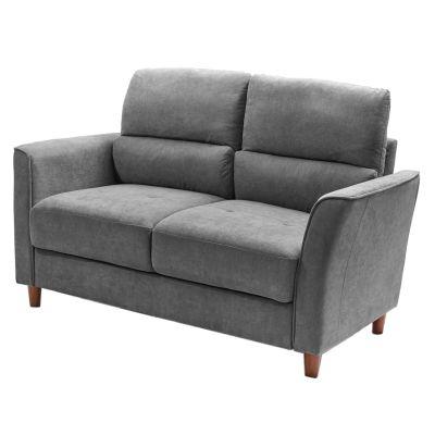 Sofá de madera gris 2 puestos