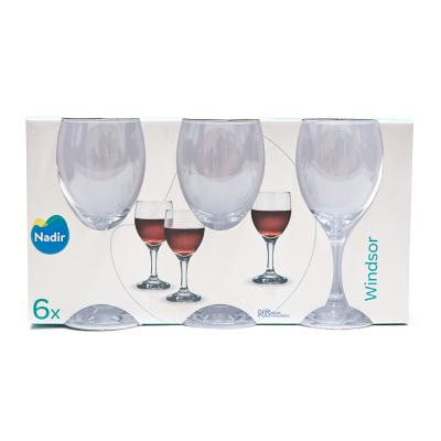 Set de copas de vidrio Windsor 250ml