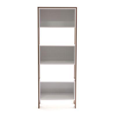 Librero de madera estilo moderno color blanco