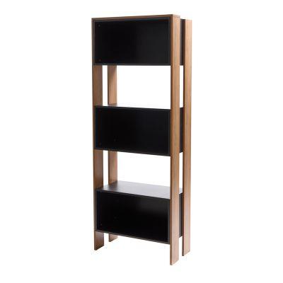 Librero de madera estilo moderno color negro