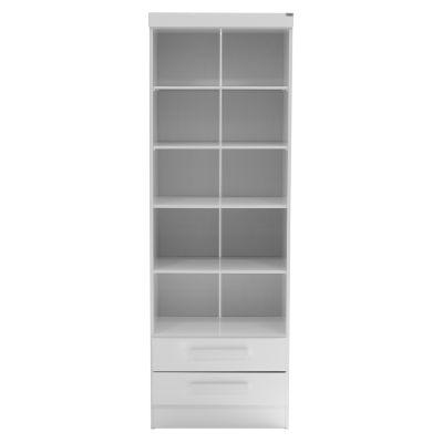 Librero de madera estilo clásico color blanco