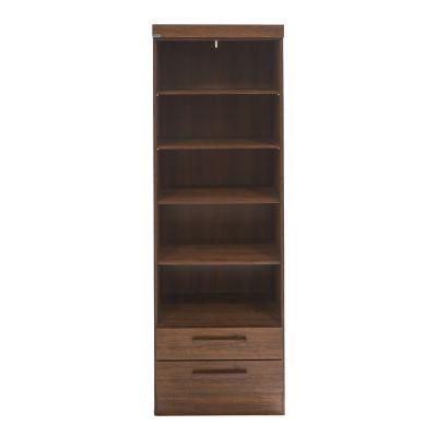 Librero de madera estilo clásico color chocolate