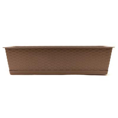 Macetero plástico rectangular