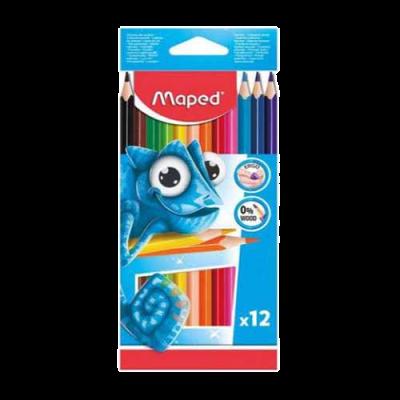 Lápices de colores de madera  12 piezasMaped