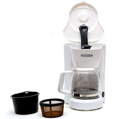 Cafetera Black & Decker 5 tazas blanca