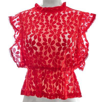 Blusa con encajes Papermoon