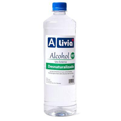 Alcohol desnaturalizado Alivia 95% de 24 oz.