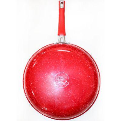 Sartén de Aluminio rojo con Teflon 30.4 Cm